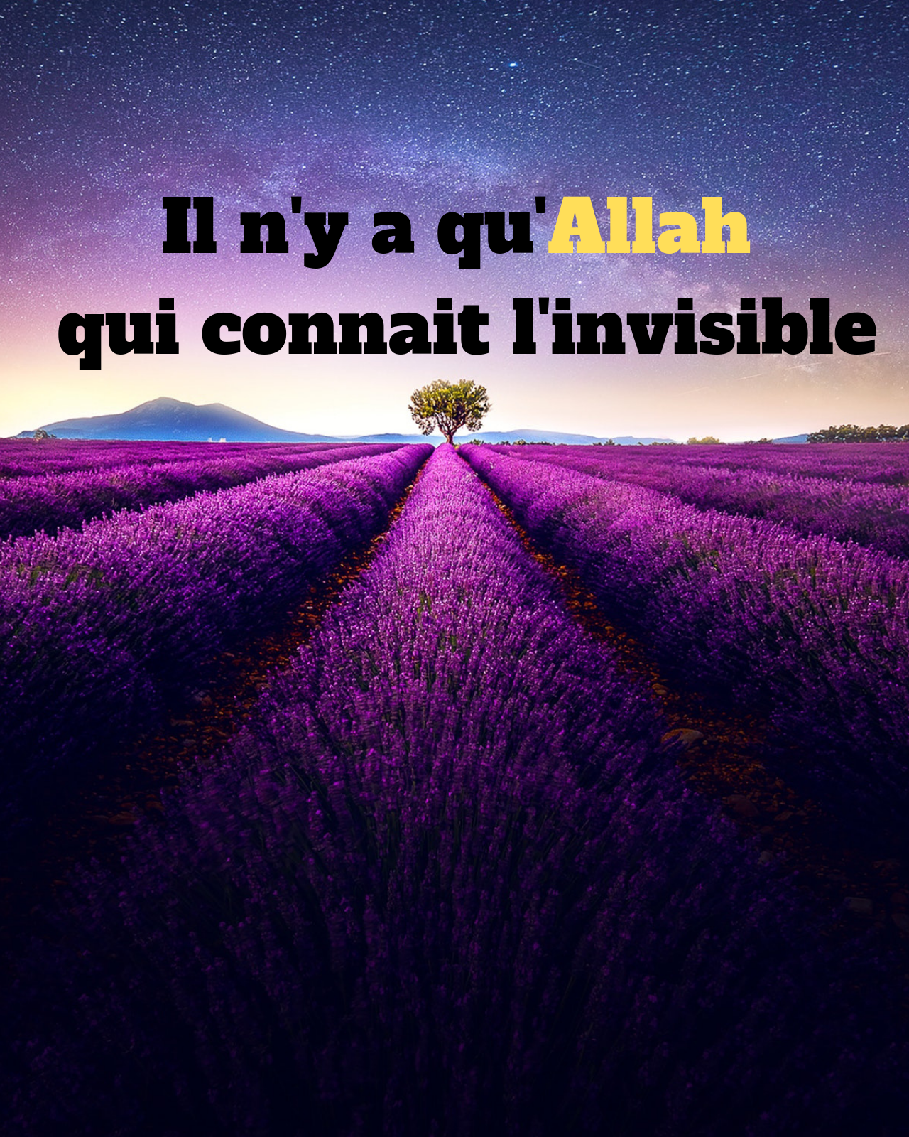 Il n'y a qu'Allah qui connait l'invisible