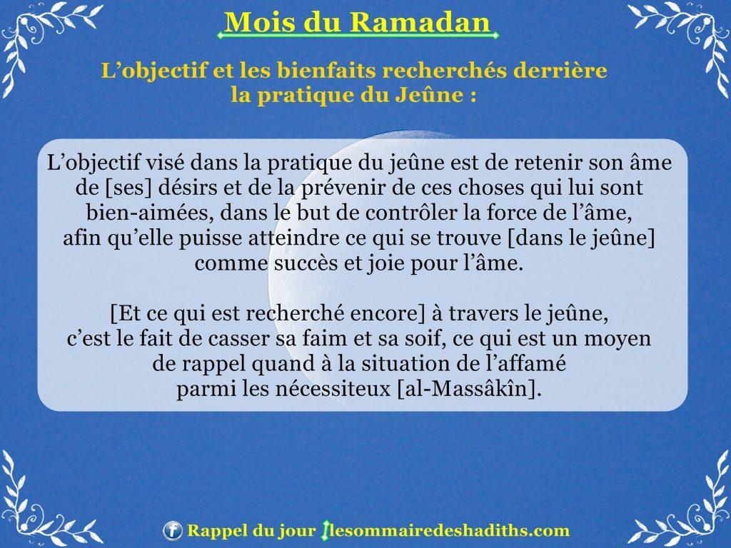 Ramadan - L'objectif et les bienfaits recherchés derrière le jeune