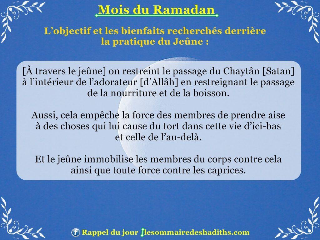 Ramadan - L'objectif et les bienfaits recherchés derrière le jeune 2
