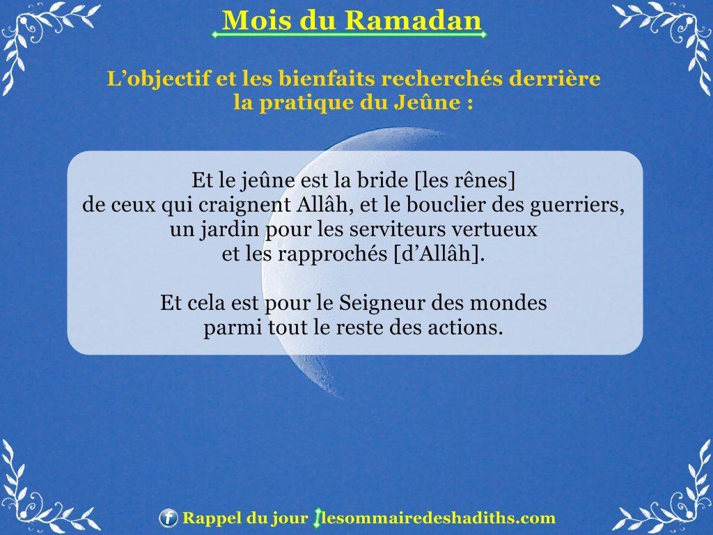 Ramadan - L'objectif et les bienfaits recherchés derrière le jeune partie 3