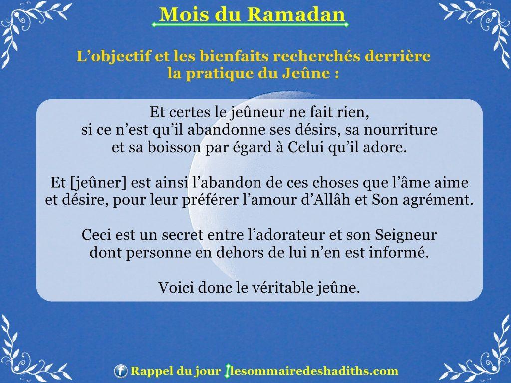 Ramadan - L'objectif et les bienfaits recherchés derrière le jeune partie 4