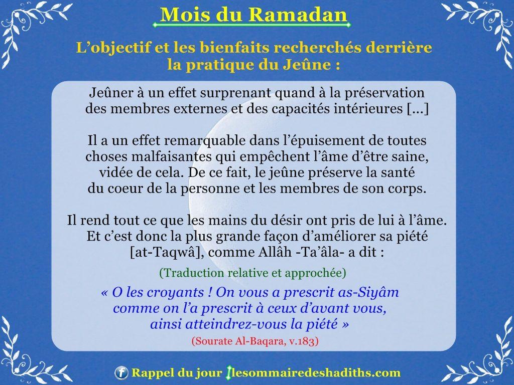 Ramadan - L'effet du jeune