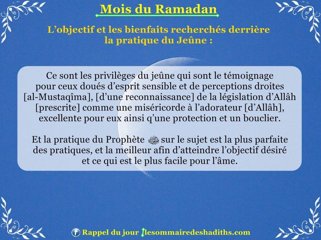 Ramadan - Les privileges du jeune partie 1