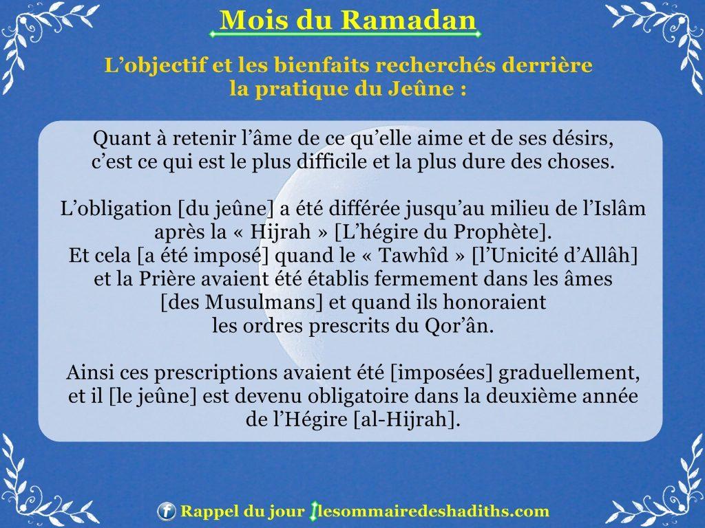 Ramadan - Les privileges du jeune partie 2
