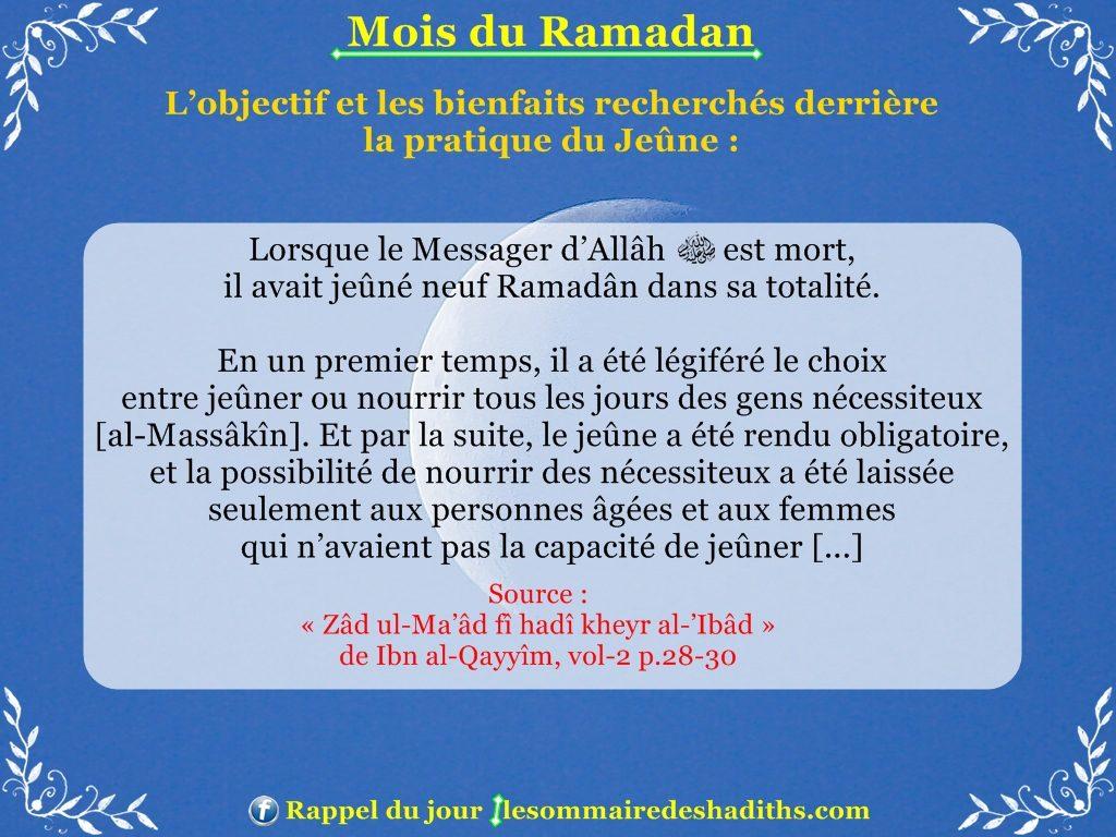 Ramadan - Les privileges du jeune partie 3