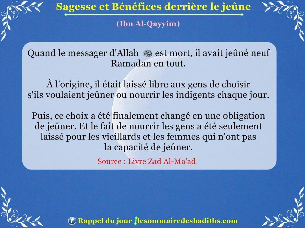 Sagesse et Bénéfices derriere le jeune - Ibn Al-Qayyim - partie 10