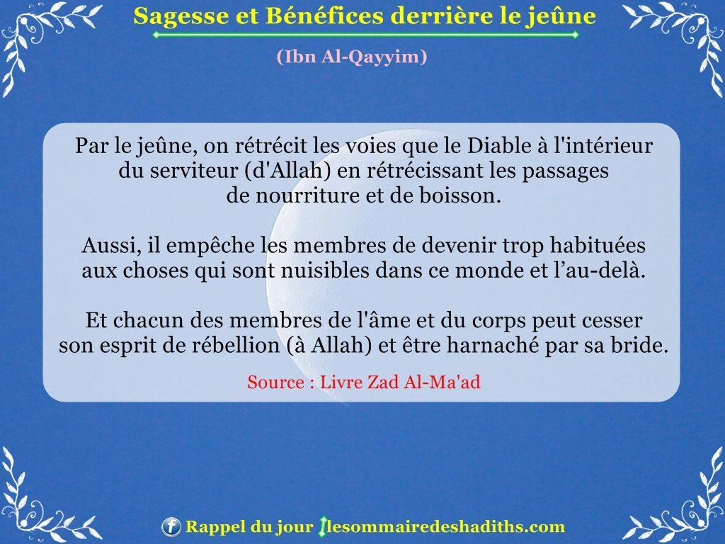 Sagesse et Bénéfices derriere le jeune - Ibn Al-Qayyim - partie 2