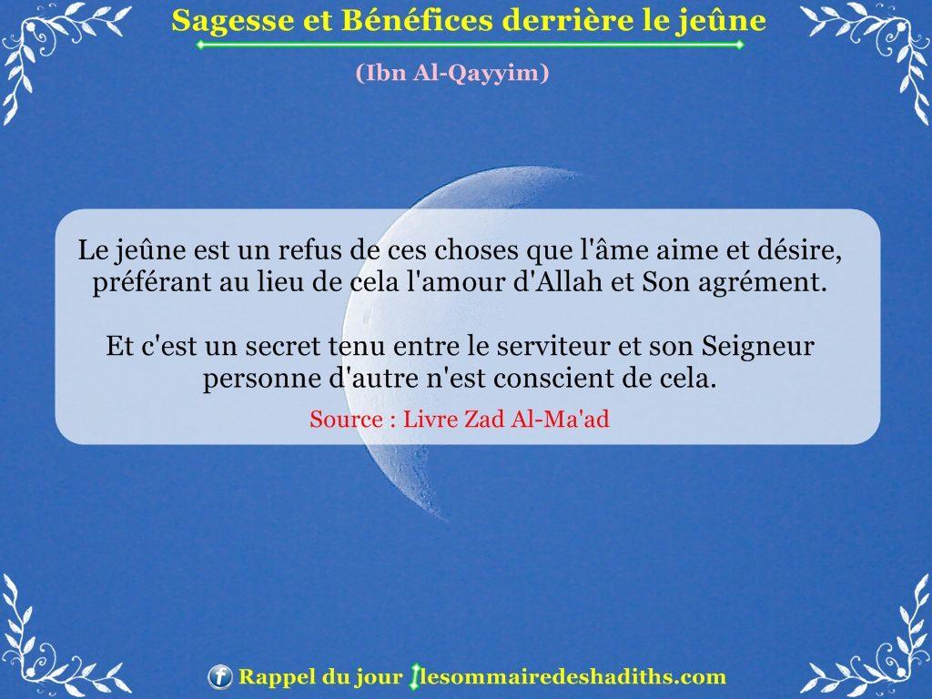 Sagesse et Bénéfices derriere le jeune - Ibn Al-Qayyim - partie 4
