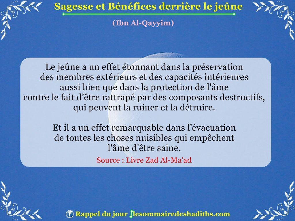 Sagesse et Bénéfices derriere le jeune - Ibn Al-Qayyim - partie 5