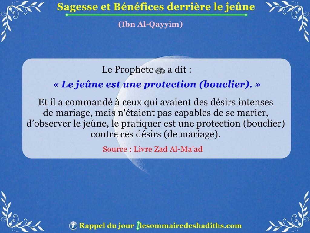 Sagesse et Bénéfices derriere le jeune - Ibn Al-Qayyim - partie 7