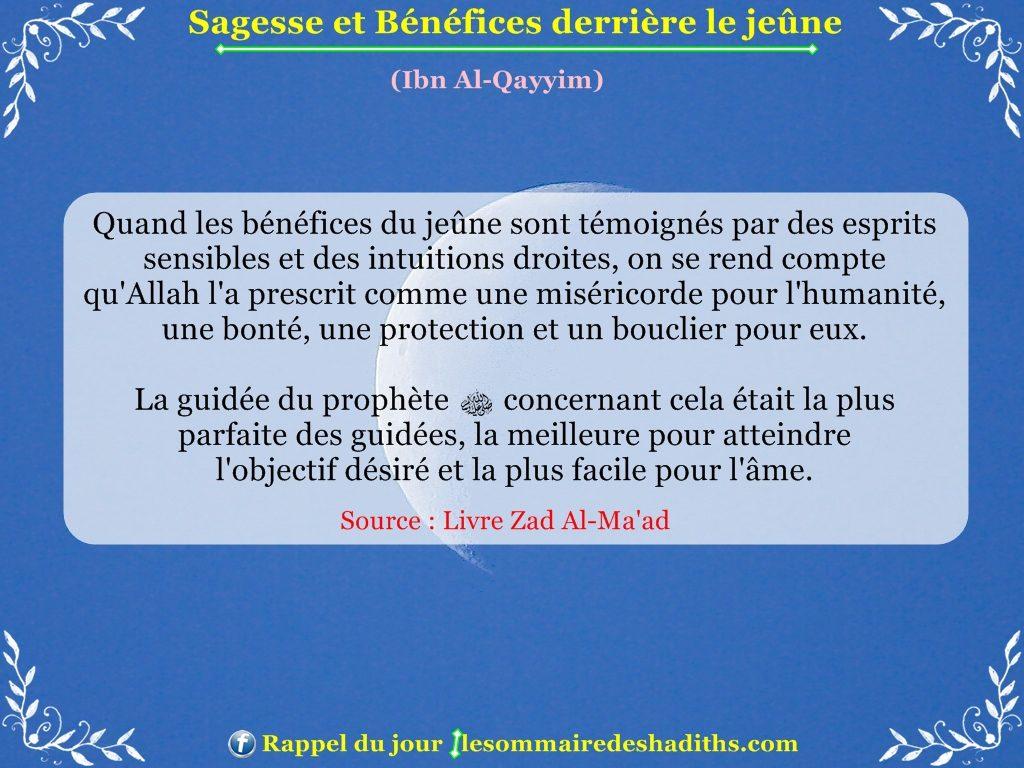 Sagesse et Bénéfices derriere le jeune - Ibn Al-Qayyim - partie 8