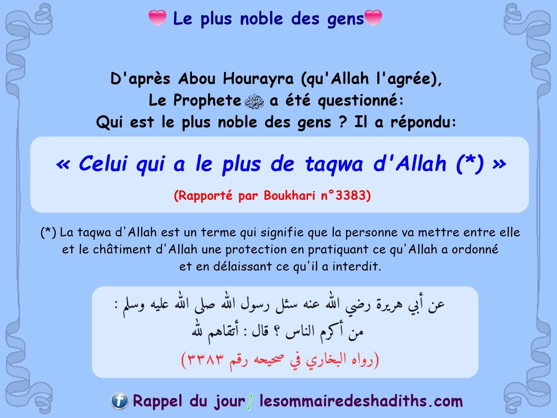 Le plus noble des gens (Abu Hurayra)