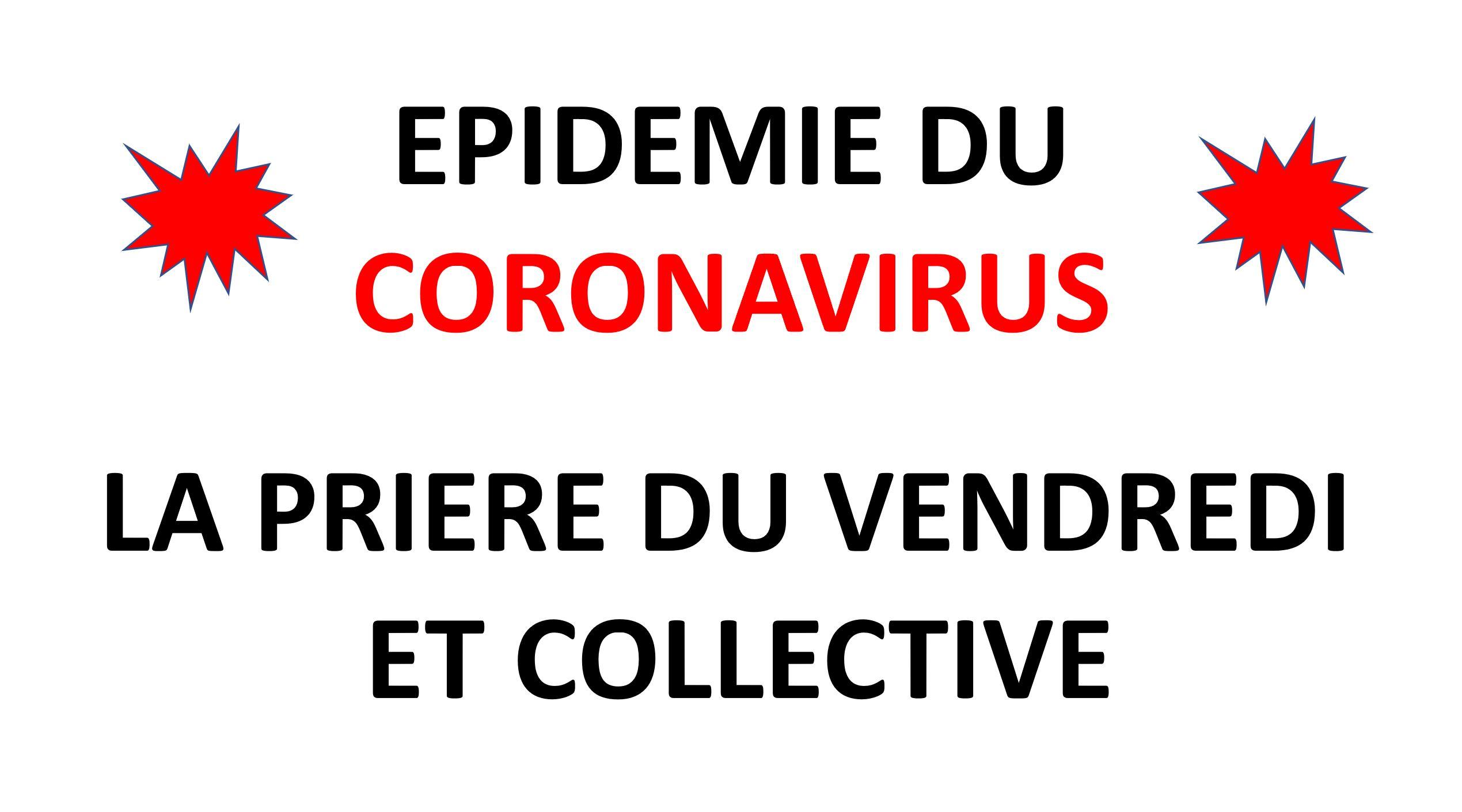 Epidemie du coronavirus et priere du vendredi
