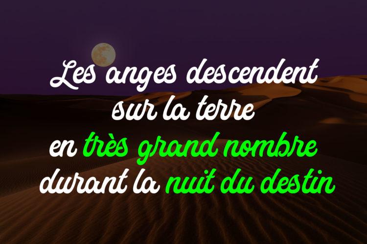 La descente des anges la nuit du destin