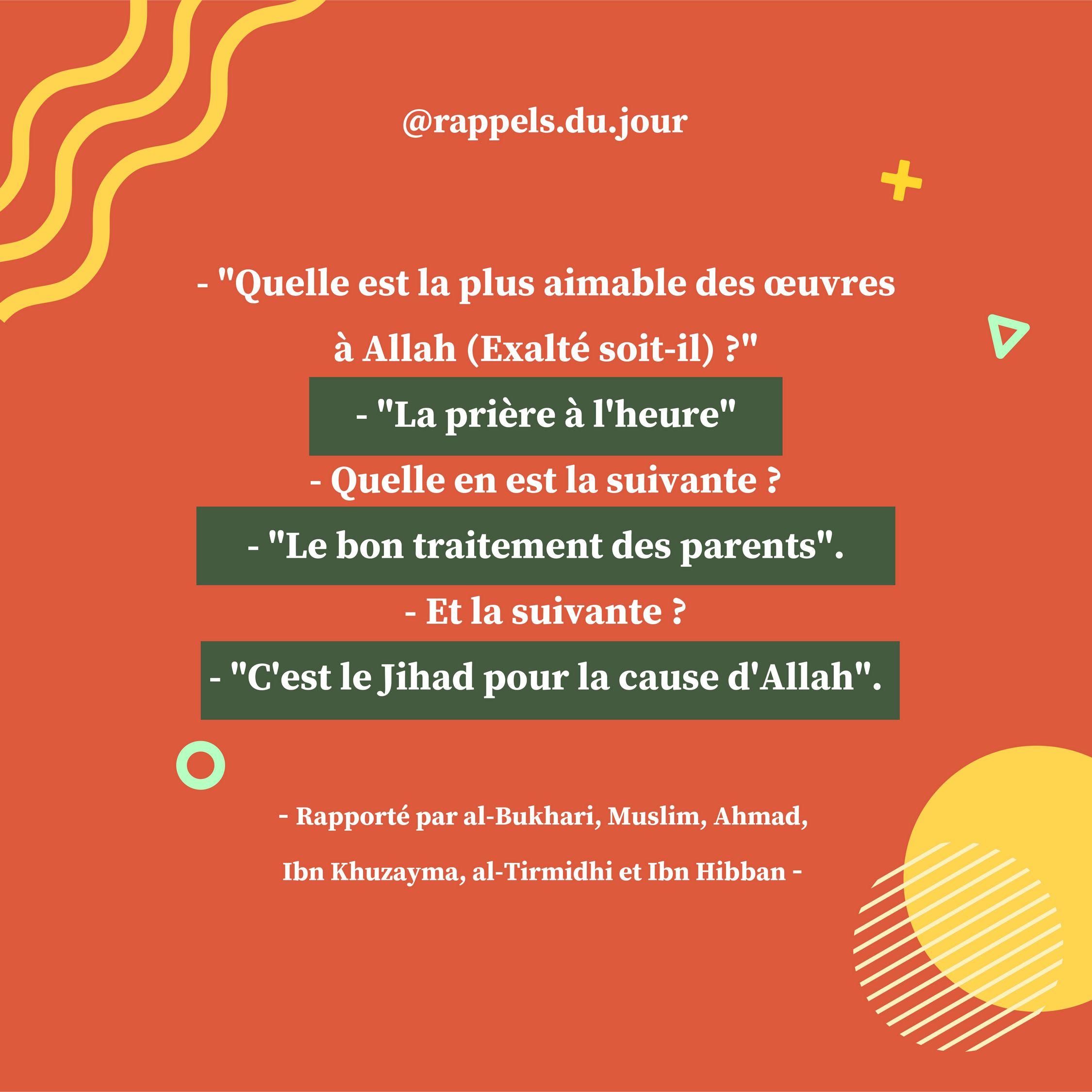 Hadith 'Abdullah Ben Mas'ud - Accomplir la priere à l'heure