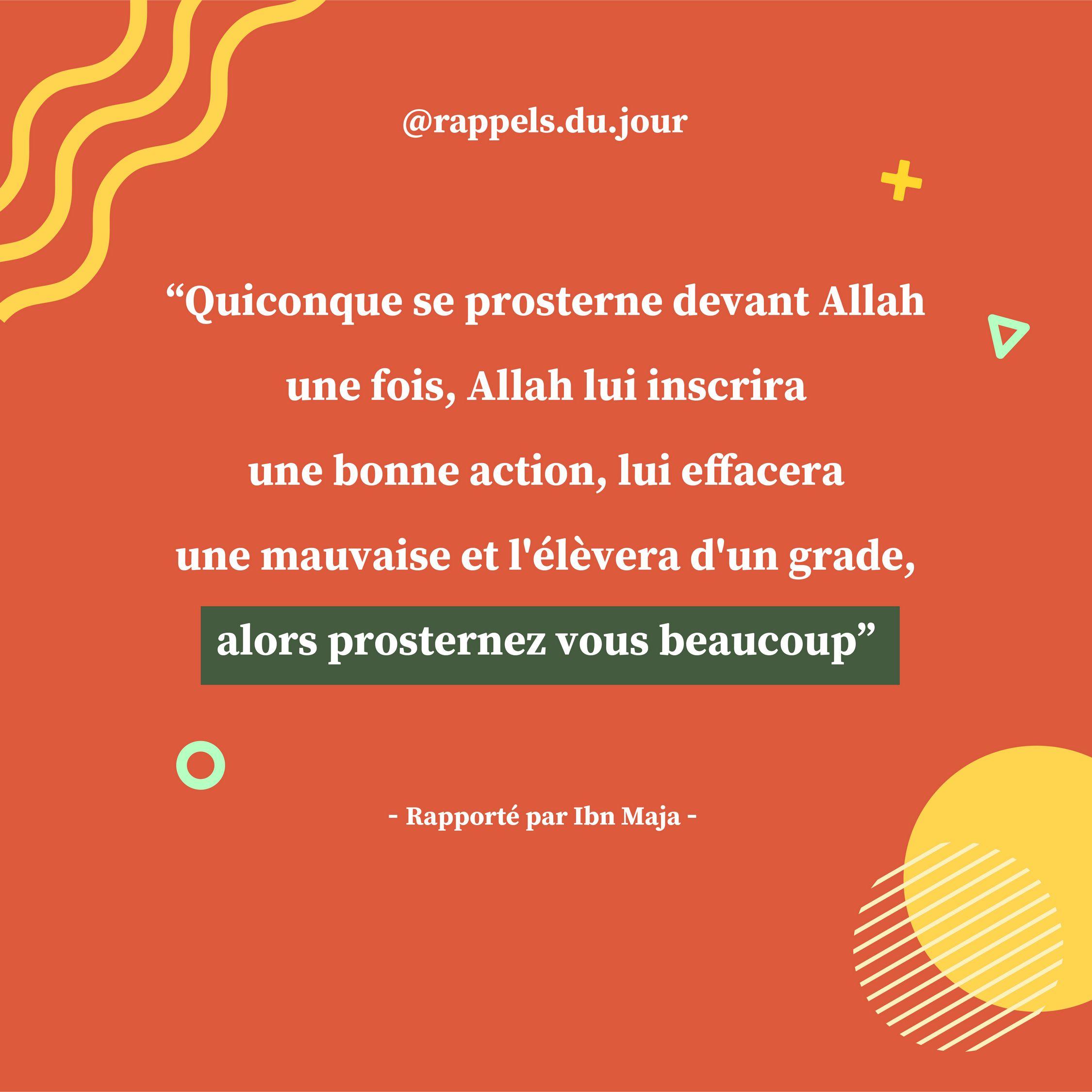 Hadith 'Ubada Ben aç-Samat - Augmenter les prosternations