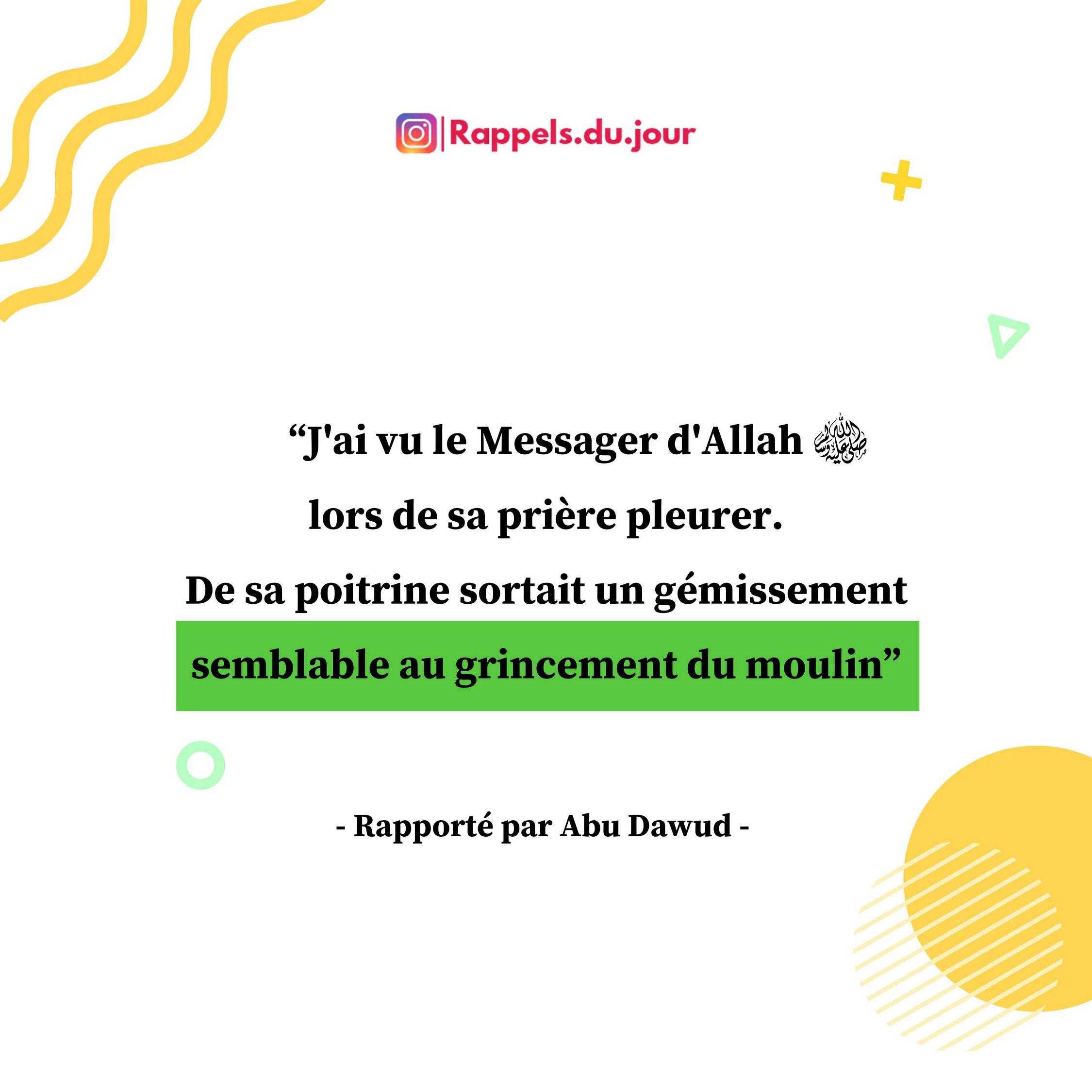 Hadith Muttarif - Le Messager d'Allah pleurer dans la priere